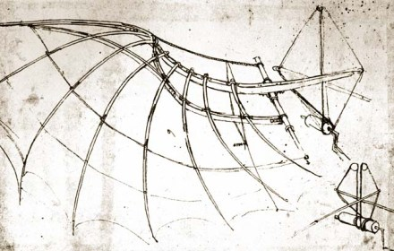 Leonardo Da Vinci - Bird Wing with Mechanical Parts