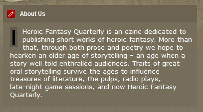 Heroic Fantasy Quarterly - About Us