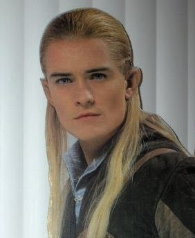 Life size cardboard cutout of Legolas from The Lord of the Rings.