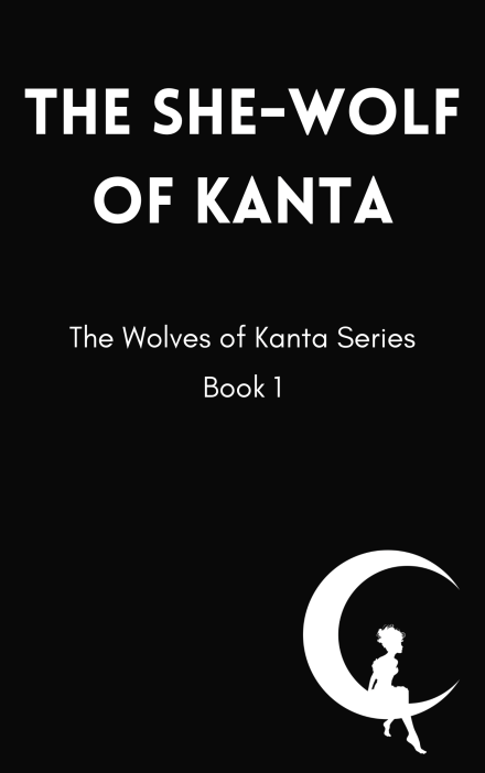 Temporary cover for The She-Wolf of Kanta, scheduled for re-release in 2022.